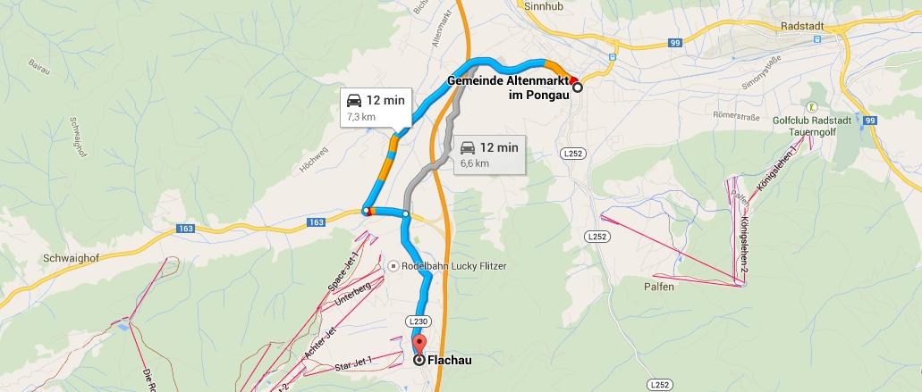 Trasa Altenmarkt - Flachau autem